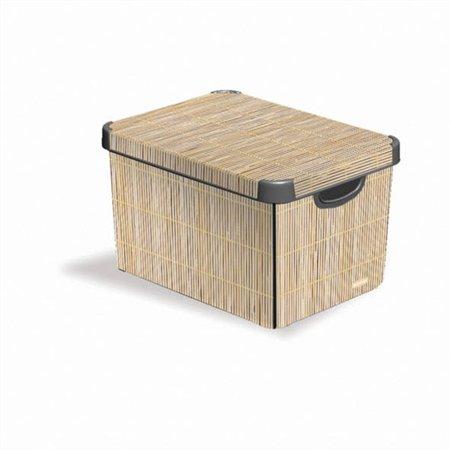 Krabica Stockholm, vzor bambus, 39x30x25 cm