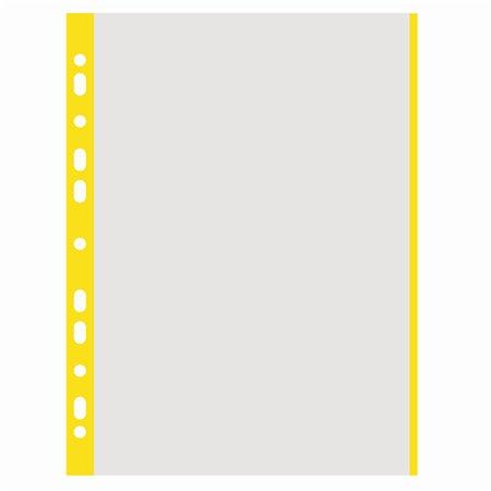 Euroobal, s farebnou bočnou lištou, A4, 40 mikr., drsný povrch, DONAU, žltý