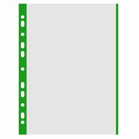 Euroobal, s farebnou bočnou lištou, A4, 40 mikr., drsný povrch, DONAU, zelený