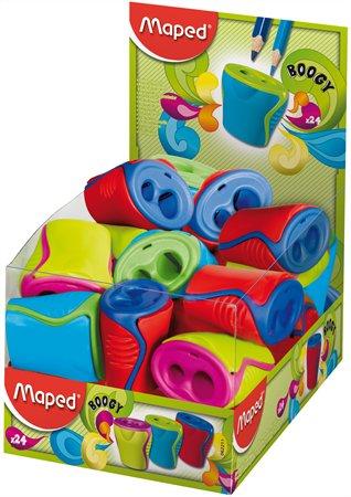 """Strúhadlo , displej, dvojdierové, so zásobníkom, MAPED """"Boogy"""", mix farieb"""