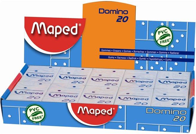 """Guma, displej, MAPED """"Domino 20"""""""