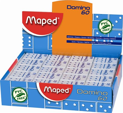 """Guma, displej, MAPED """"Domino 60"""""""