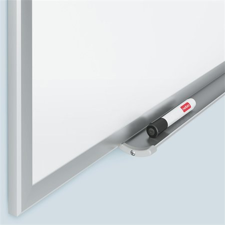 Biela, smaltovaná, magnetická tabuľa, hliníkový rám, 90 x 120 cm NOBO