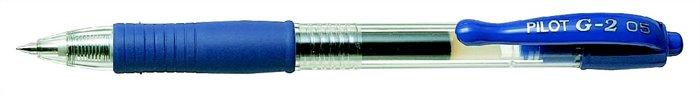 """Gélové pero, 0,32 mm, tlačidlový systém ovládania, PILOT """"G-2"""", modré"""