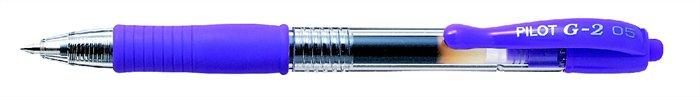 """Gélové pero, 0,32 mm, tlačidlový systém ovládania, PILOT """"G-2"""", fialové"""