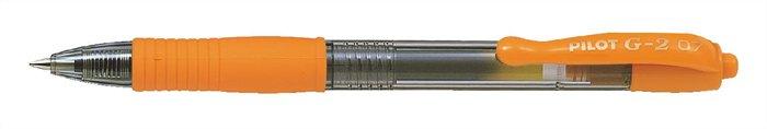 """Gélové pero, 0,32 mm, tlačidlový systém ovládania, PILOT """"G-2"""", oranžové"""