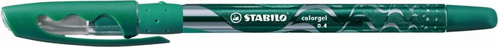 "Gélové pero, 0,4 mm, s uzáverom, STABILO ""Colorgel"", zelené"