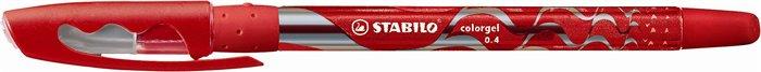 """Gélové pero, 0,4 mm, s uzáverom, STABILO """"Colorgel"""", červené"""