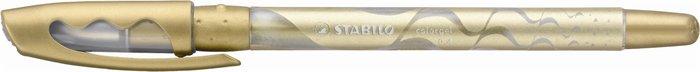 "Gélové pero, 0,4 mm, s uzáverom, STABILO ""Colorgel"", zlaté"
