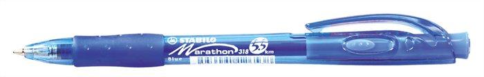 """Guličkové pero, 0,4 mm, tlačidlový systém ovládania, STABILO """"Marathon"""", modré"""