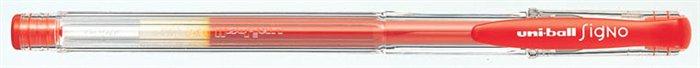 """Gélové pero, 0,4 mm, s uzáverom, UNI """"UM-100"""", červené"""