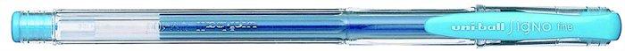 """Gélové pero, 0,4 mm, s uzáverom, UNI """"UM-100"""", svetlomodré"""