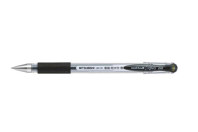 "Gélové pero, 0,38 mm, s uzáverom, UNI ""UM-151"", čierne"