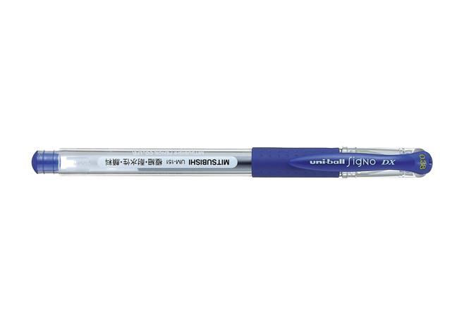 "Gélové pero, 0,38 mm, s uzáverom, UNI ""UM-151"", modré"