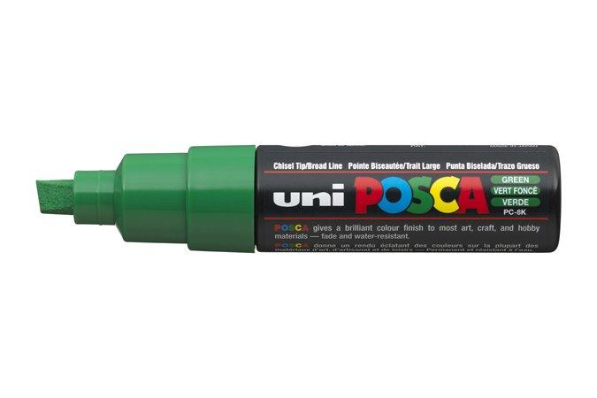 """Dekoračný popisovač, 8 mm, UNI """"Posca"""", zelený"""