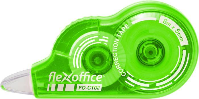 "Korekčný roller, 5 mm x 8 m, FLEXOFFICE ""FO-CT02"", rôzne farbý"