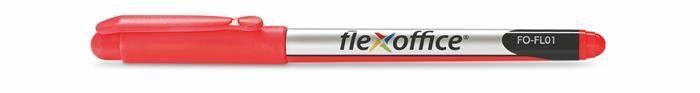 """Liner, 0,3 mm, FLEXOFFICE """"FL01"""", červený"""
