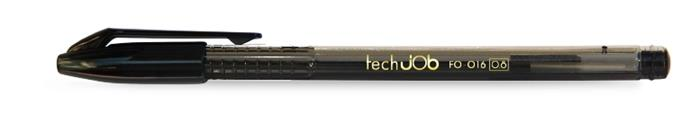 """Guľôčkové pero, 0,4 mm, s uzáverom, FLEXOFFICE """"TechJob"""", čierne"""