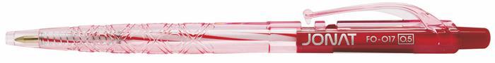 """Guľôčkové pero, 0,25 mm, tlačidlový systém ovládania,FLEXOFFICE """"Jonat"""", červené"""