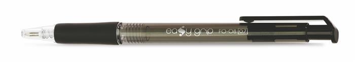"""Guľôčkové pero, 0,4 mm, tlačidlový systém ovládania, FLEXOFFICE """"EasyGrip"""", čierne"""