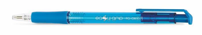 """Guľôčkové pero, 0,4 mm, tlačidlový systém ovládania, FLEXOFFICE """"EasyGrip"""", modré"""